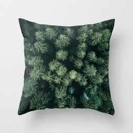 Forest from above - Landscape Photography Throw Pillow