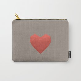 Modern Love - Pink on Grey Carry-All Pouch