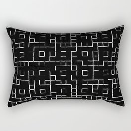 Maze - Black and white, abstract, maze pattern Rectangular Pillow