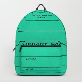 Library Card BSS 28 Turquoise Backpack