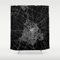 kentucky Shower Curtains featuring Lexington map Kentucky by Line Line Lines