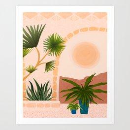 Dreamy Desert View Art Print