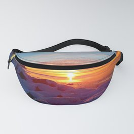 Sunset and Wind turbines Fanny Pack