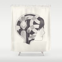 mad Shower Curtains featuring mad world by yohan sacre