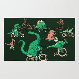 Dinosaurs on Bikes! Rug