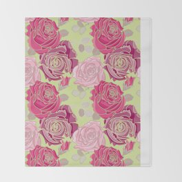 Spring Roses Throw Blanket