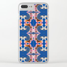 Feng Shui Geometric Synergy Flow Print Clear iPhone Case
