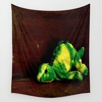 dino Wall Tapestries featuring Dino by Lily Dee Designs