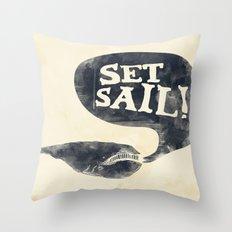 Set Sail! Throw Pillow