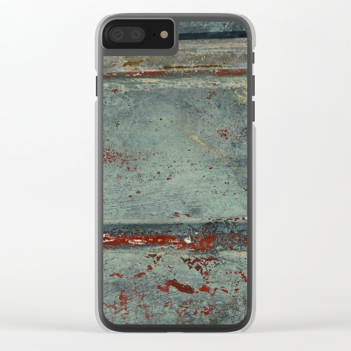 Boat Wood Paint Texture Cornwall Clear iPhone Case