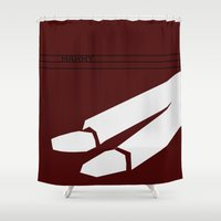 harry Shower Curtains featuring Harry by Monstakind