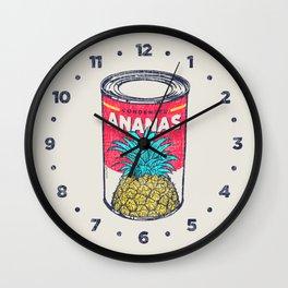 Condensed ananas Wall Clock