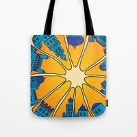 morocco Tote Bags featuring Morocco by Galina Khabarova