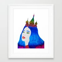 russia Framed Art Prints featuring Russia by Luna Portnoi