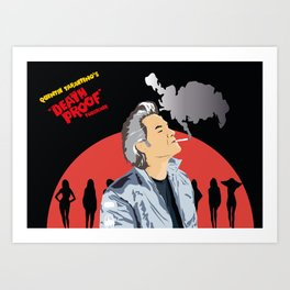 Quentin Tarantino death proof tribute Art Print