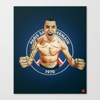 zlatan Canvas Prints featuring Zlatan Ibrahimovic by Just Agung