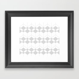 Abstract geometric pattern - gray and white. Framed Art Print