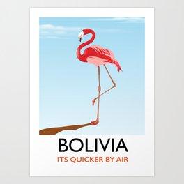 Bolivia Flamingo vacation print Art Print