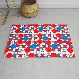 Red White & Blue Patriotic Modern Print Rug