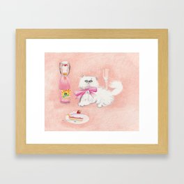 DIVA READY CAT Framed Art Print