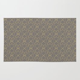 Light Gold Oval Wall on Warm Grey Rug