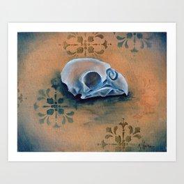 Oil Paint Study - Parakeet Pattern Art Print