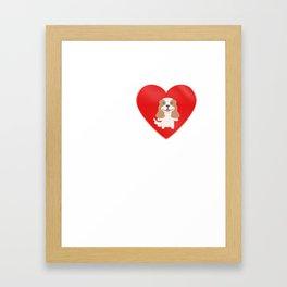 LOVE Cavalier King Charles Spaniel Cute Dog Gift Idea Framed Art Print