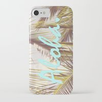 aloha iPhone & iPod Cases featuring ALOHA by The Pixel Gypsy