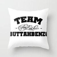 pretty little liars Throw Pillows featuring Team Buttahbenzo - Pretty Little Liars (PLL) by swiftstore