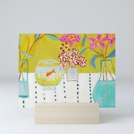 Stargazer Lilies Mini Art Print