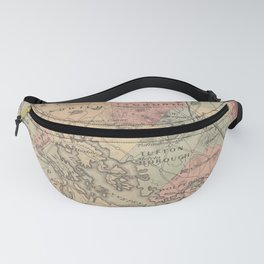 Vintage Map of The NH Lakes Region (1890) Fanny Pack