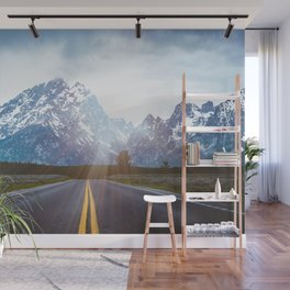 Mountain Road - Grand Tetons Nature Landscape Photography Wall Mural