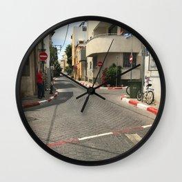 Tel Aviv photo - Kerem Hateimanim - Israel Wall Clock