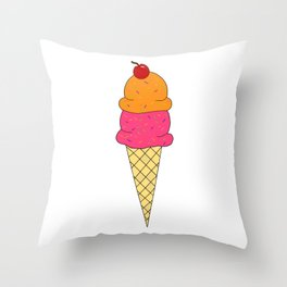 Frozen Yogurt Throw Pillow