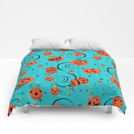 Halloween Magic- Turquoise Comforters