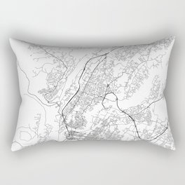 Minimal City Maps - Map Of Chattanooga, Tennessee, United States Rectangular Pillow