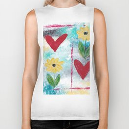 Love & Flowers Biker Tank
