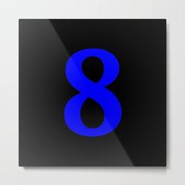 8 (BLUE & BLACK NUMBERS) Metal Print