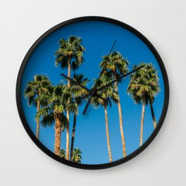 Palm Springs Palms IV Wall Clock