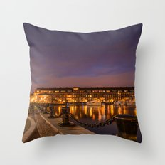 Boston, North End  Throw Pillow