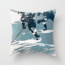 The Break- Away - Hockey Players Throw Pillow