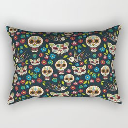 Day Of The Dead Pattern | Dia De Los Muertos Skull Rectangular Pillow