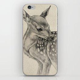 Animal Art | Deer Drawing | Nursery | Baby Room | Fawn | Bambi iPhone Skin