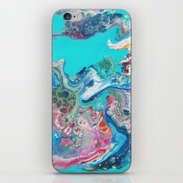 Fluid Nature - Rainbow Sea Dragon - Abstract Acrylic Pour Art iPhone Skin