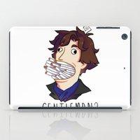 gentleman iPad Cases featuring Gentleman by M-chi