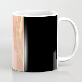 Peach Feather Pattern Coffee Mug
