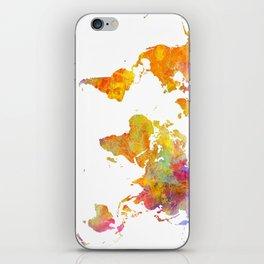 world map 23 iPhone Skin