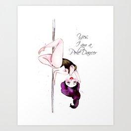 Pole Dancer Pole Dancing Pole Dance Art Print