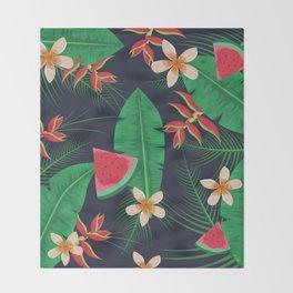 Tropical Watermelon Throw Blanket
