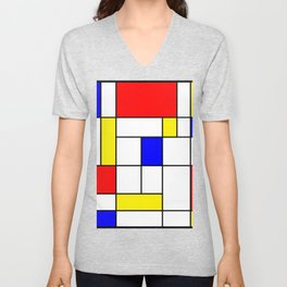 Mondrian #62 Unisex V-Neck